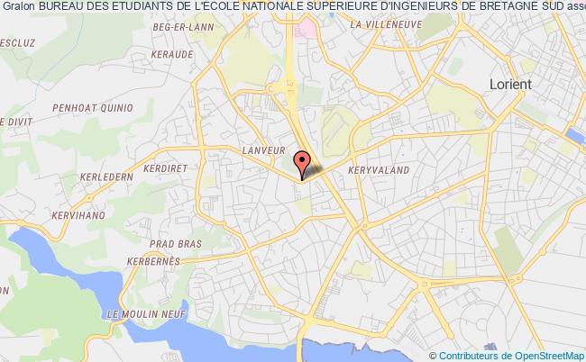 plan association Bureau Des Etudiants De L'ecole Nationale Superieure D'ingenieurs De Bretagne Sud
