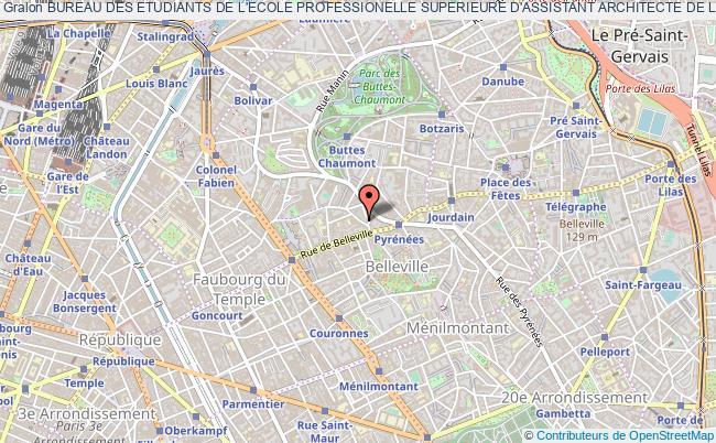 plan association Bureau Des Etudiants De L'ecole Professionelle Superieure D'assistant Architecte De La Ville De Paris (bde Epsaa)