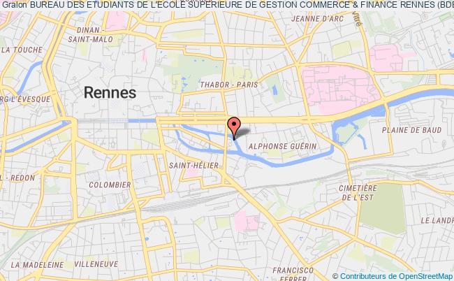 plan association Bureau Des Etudiants De L'ecole Superieure De Gestion Commerce & Finance Rennes (bde Esgc&f Rennes)