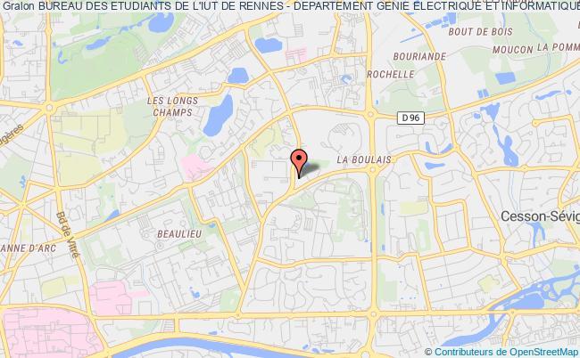 plan association Bureau Des Etudiants De L'iut De Rennes - Departement Genie Electrique Et Informatique Industrielle