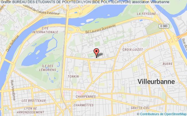 plan association Bureau Des Etudiants De Polytech Lyon (bde Polytech Lyon)