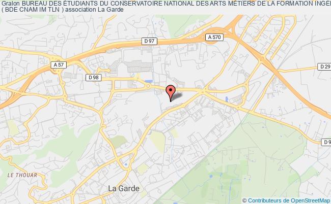 plan association Bureau Des Étudiants Du Conservatoire National Des Arts MÉtiers De La Formation IngÉnieur Informatique Et MultimÉdia Toulon ( Bde Cnam Im Tln )