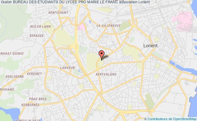 plan association Bureau Des Étudiants Du Lycee Pro Marie Le Franc Lorient