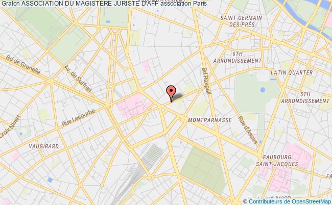 plan association Bureau Des Etudiants Du Magistere De Juriste D'affaires Bde Mja Paris