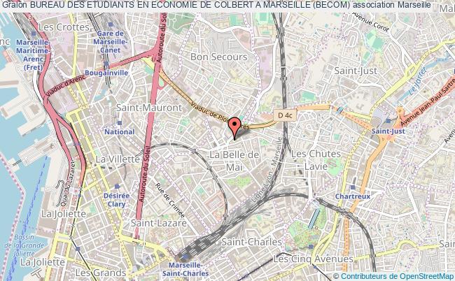 plan association Bureau Des Etudiants En Economie De Colbert A Marseille (becom)