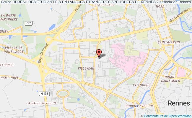 plan association Bureau Des Etudiants En Langues EtrangÈres AppliquÉes De Rennes 2 Rennes