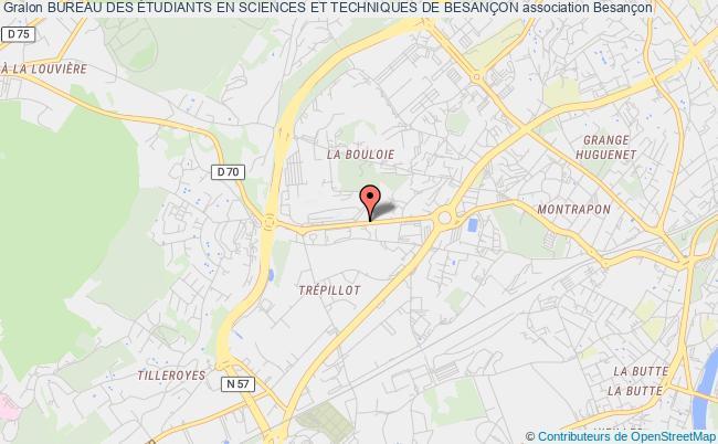 plan association Bureau Des Etudiants En Sciences Et Techniques De BesanÇon Besançon