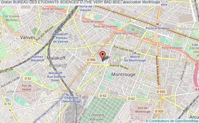 plan association Bureau Des Etudiants Sciences U (the Very Bad Bde) Montrouge