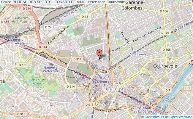 plan association Bureau Des Sports LÉonard De Vinci Courbevoie