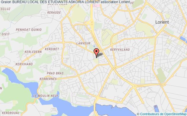 plan association Bureau Local Des Etudiants Askoria Lorient Lorient