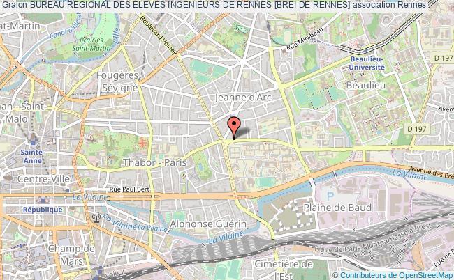 plan association Bureau Regional Des Eleves Ingenieurs De Rennes [brei De Rennes] Rennes