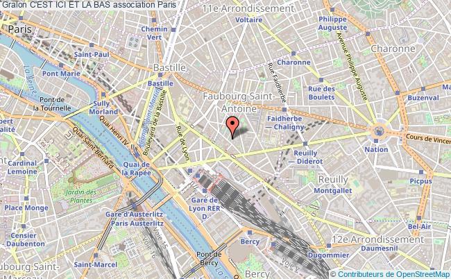 plan association C'est Ici Et La Bas Paris