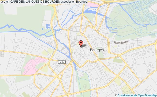 plan association Cafe Des Langues De Bourges Bourges