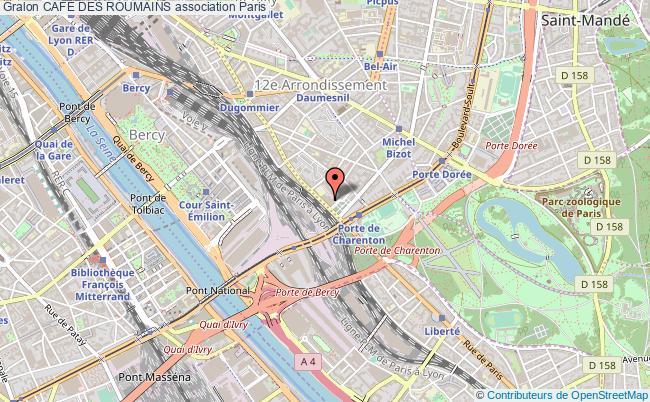 plan association CafÉ Des Roumains Paris