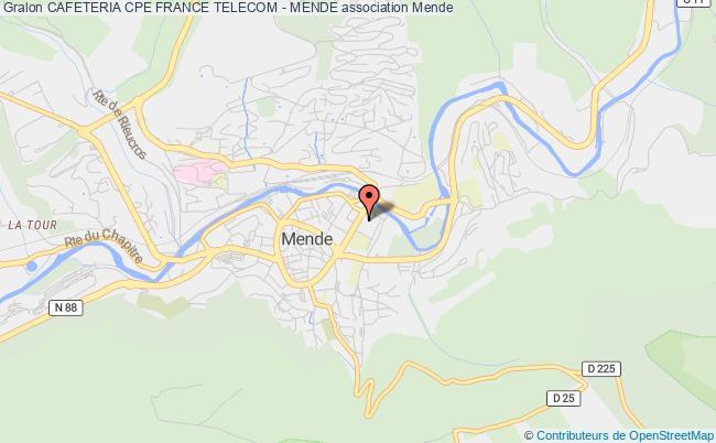plan association Cafeteria Cpe France Telecom - Mende
