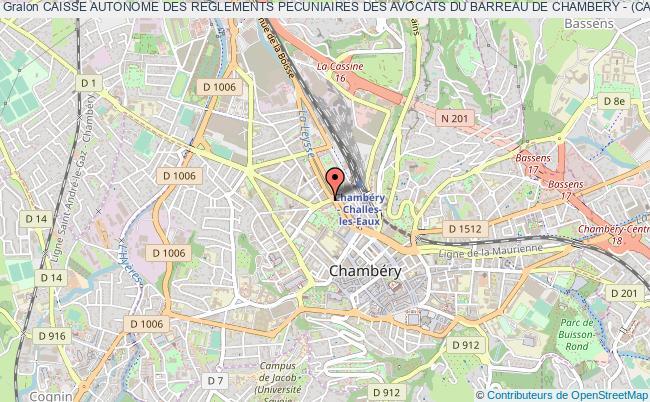 plan association Caisse Autonome Des Reglements Pecuniaires Des Avocats Du Barreau De Chambery - (carpa De Chambery)