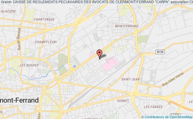"""plan association Caisse De Reglements Pecuniaires Des Avocats De Clermont-ferrand """"carpa"""""""