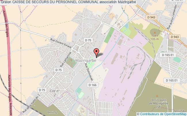 plan association Caisse De Secours Du Personnel Communal