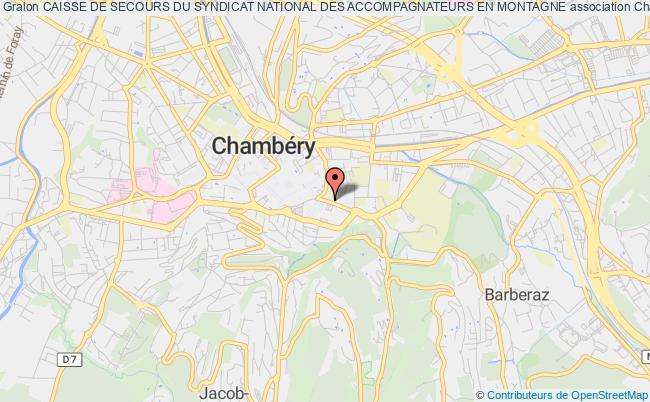 plan association Caisse De Secours Du Syndicat National Des Accompagnateurs En Montagne