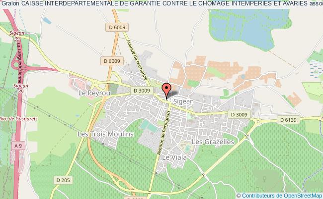 plan association Caisse Interdepartementale De Garantie Contre Le Chomage Intemperies Et Avaries Sigean
