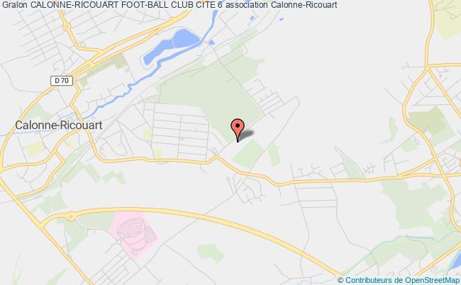 plan association Calonne-ricouart Foot-ball Club Cite 6
