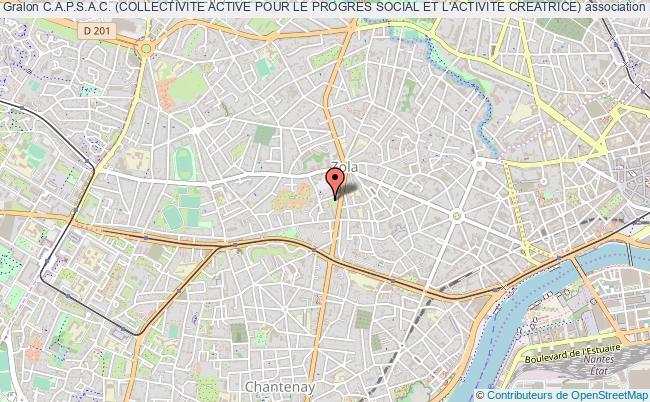 plan association C.a.p.s.a.c. (collectivite Active Pour Le Progres Social Et L'activite Creatrice)