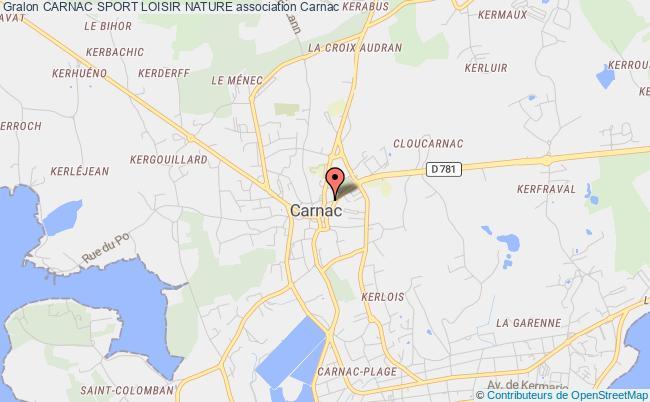 plan association Carnac Sport Loisir Nature
