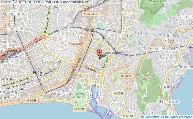 plan association Carrefour Des Paillons Nice