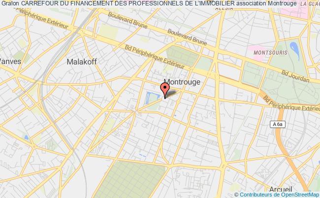 plan association Carrefour Du Financement Des Professionnels De L'immobilier Montrouge Cédex