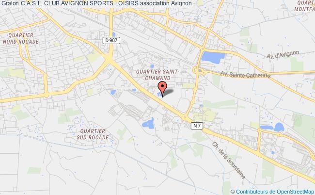 plan association C.a.s.l. Club Avignon Sports Loisirs