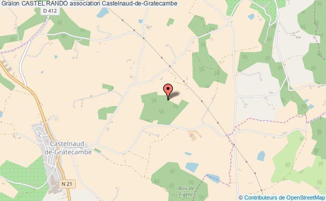 plan association Castel Rando Castelnaud-de-Gratecambe