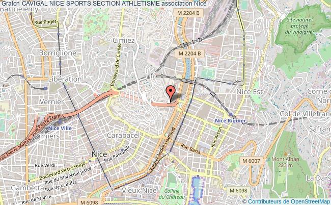 plan association Cavigal Nice Sports Section Athletisme Nice
