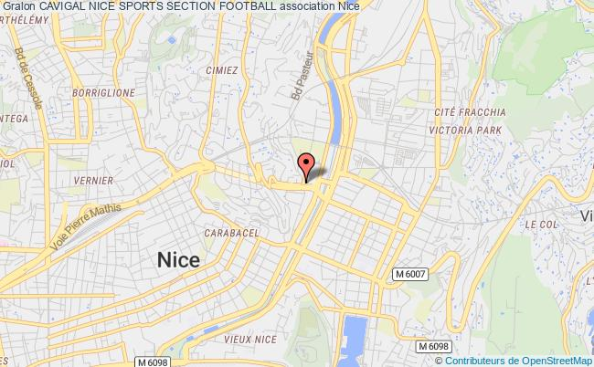 plan association Cavigal Nice Sports Section Football Nice