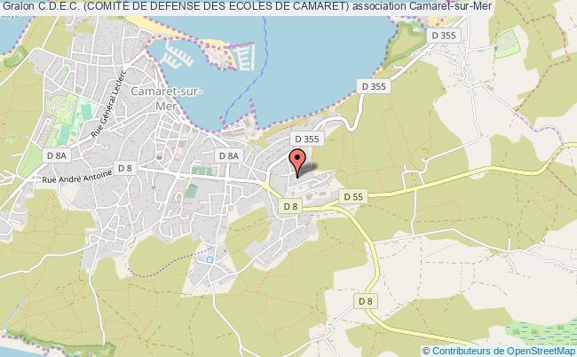 plan association C.d.e.c. (comite De Defense Des Ecoles De Camaret)