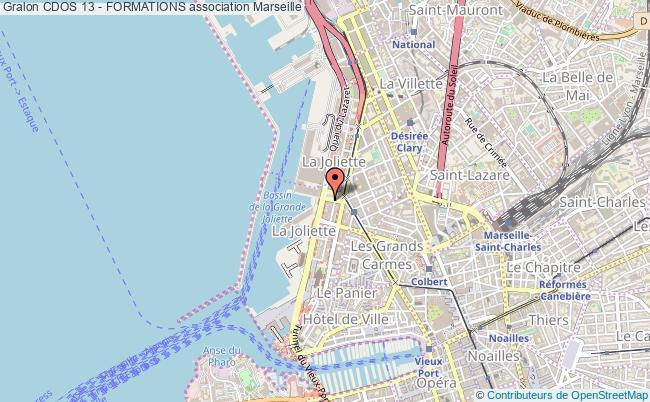 plan association Cdos 13 - Formations Marseille 2e