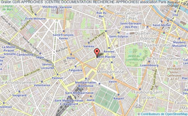plan association Cdr-approches  (centre Documentation Recherche-approches) Paris