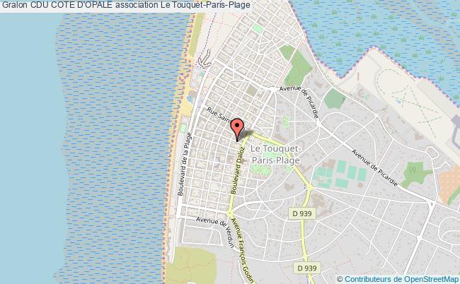 plan association Cdu Cote D'opale Le    Touquet-Paris-Plage