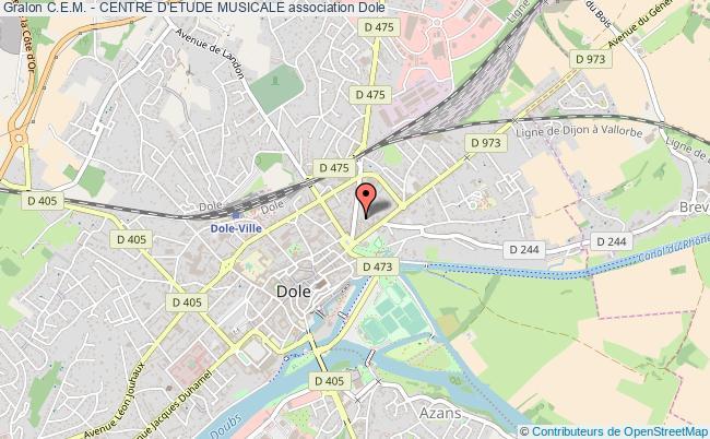 plan association C.e.m. - Centre D'etude Musicale Dole