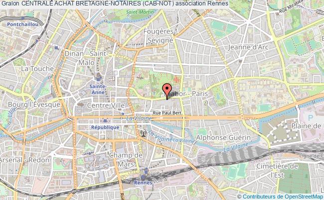 plan association Centrale Achat Bretagne-notaires (cab-not) Rennes