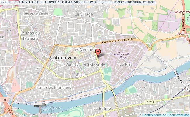 plan association Centrale Des Etudiants Togolais En France (cetf)