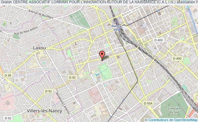 plan association Centre Associatif Lorrain Pour L'innovation Autour De La Naissance (c.a.l.i.n.)