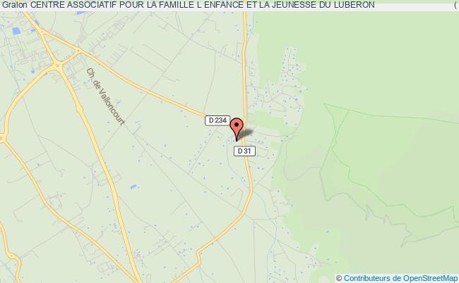 plan association Centre Associatif Pour La Famille L Enfance Et La Jeunesse Du Luberon                                ( Cafej - Luberon )