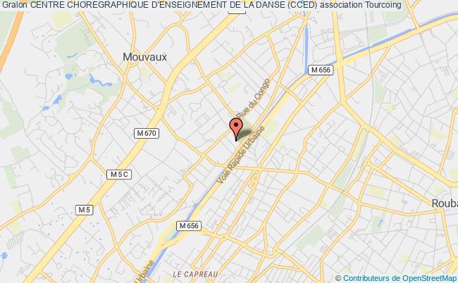 plan association Centre Choregraphique D'enseignement De La Danse (cced) Tourcoing