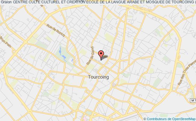 plan association Centre Culte Culturel Et Creation Ecole De La Langue Arabe Et Mosquee De Tourcoing (c.c.m.m.t)