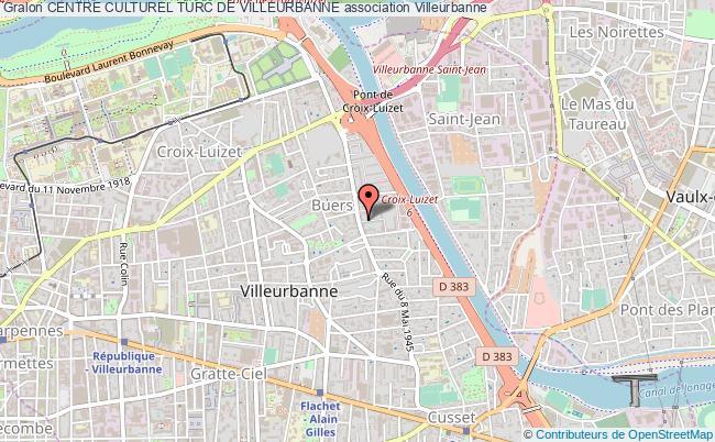 plan association Centre Culturel Turc De Villeurbanne