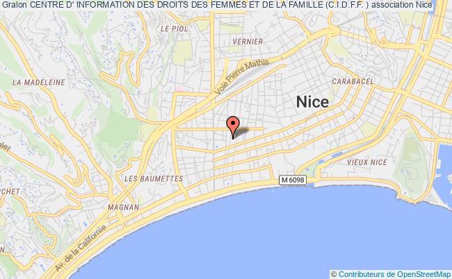 plan association Centre D' Information Des Droits Des Femmes Et De La Famille (c.i.d.f.f. )