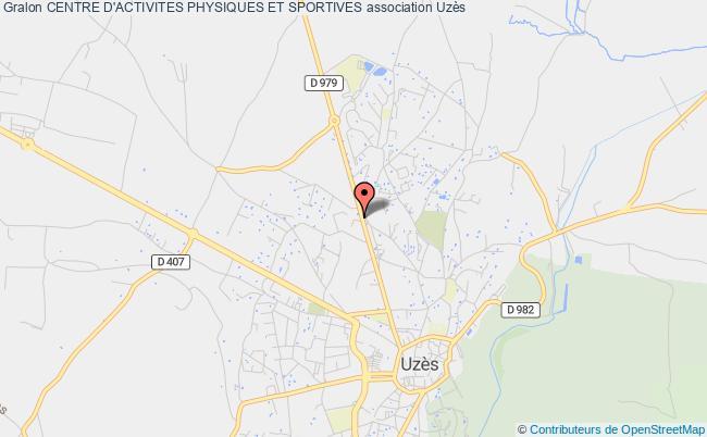 plan association Centre D'activites Physiques Et Sportives Uzès