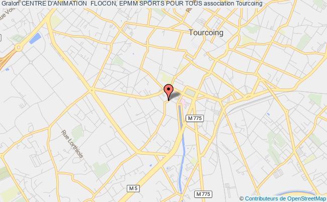 plan association Centre D'animation  Flocon, Epmm Sports Pour Tous Tourcoing