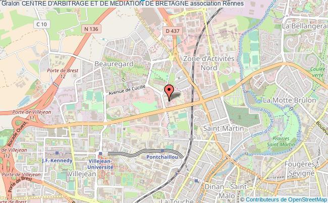plan association Centre D'arbitrage Et De Mediation De Bretagne Rennes