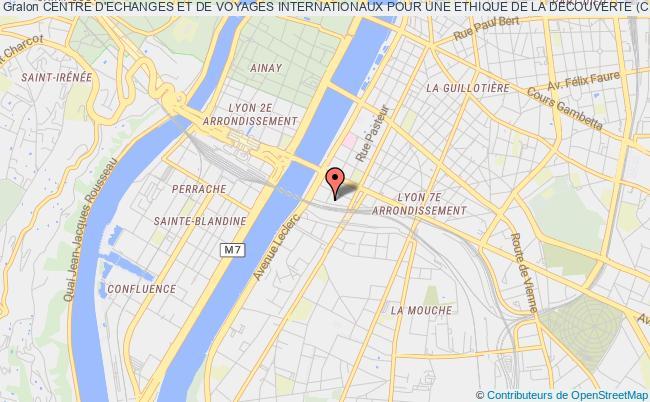 plan association Centre D'echanges Et De Voyages Internationaux Pour Une Ethique De La Decouverte (cevied)